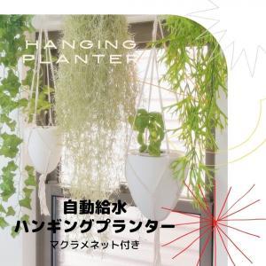 吊るす 植物 ハンギング プランター 自動給水 マクラメ ネット付 空間 インテリア デザイン SW...