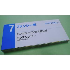 PAPYRU+紙見本帳7(テンカラーエンボス皮しぼ、テンテンレザー)|4030shiozawa