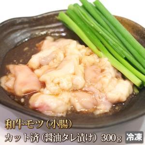 醤油だれ和牛ホルモン(小腸)300g [もつ鍋][ギフト][お歳暮ご贈答][ご贈答]|4129