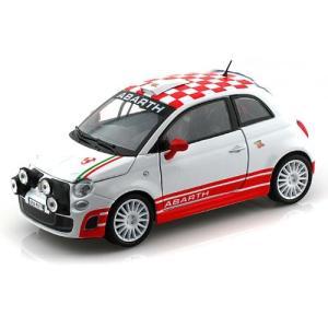 Abarth Fiat 500 R3T 1/24 White / Red Checker MM733...