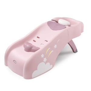 (Newox) 子供用シャンプーチェア バスチェア 折りたたみ ベビーシャンプーチェア お風呂用品 (ピンク)|488pista