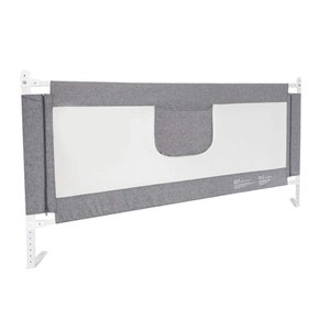 ベッドフェンス ベットガード 無添加素材 布団ずれ 蹴り出し転落防止 取り付け簡単 1枚セット (グレー )|488pista