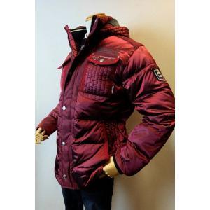 メンズファッション ブランド「カプリ フード付きダウンジャケット」取り外し可能なフード付き、ハーフ丈...