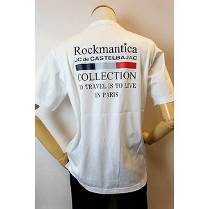 メンズファッション ブランド「カステルバジャック バックプリント半袖Tシャツ」前身右肩部の大きなロゴ...