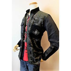 メンズファッション ブランド「カステルバジャック 迷彩柄切り替えコーデュロイシャツ」迷彩柄切り替えの...