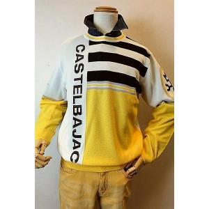 メンズファッション「カステルバジャック ロゴスプリングセーター」肌触りが良く吸湿性もあるアセテート繊...