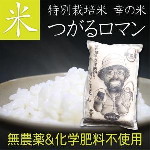 【送料無料】完全無農薬米(化学肥料不使用) つがるロマン 5kg 贈り物 ギフト お礼 お返し プレゼント お米 ごはん 玄米 胚芽米 白米 新米|4kijp