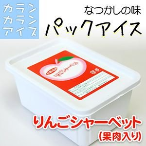 カランカラン アイス パック(600g) りんごシャーベット(果肉入)|4kijp