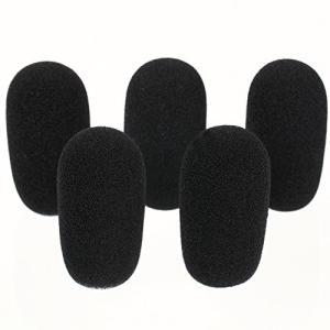 [GONKISS]ヘッドセット インカム マイク風防 マイクスポンジ 内径12mm 5個セット 黒 GON03の画像