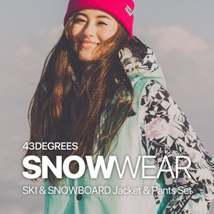 SALE スノーボードウェア レディース スキーウェア 上下 セット 43DEGREES スノボウェア  スノーボード ウェア スノボ【セール品の為交換返品不可】|4ss