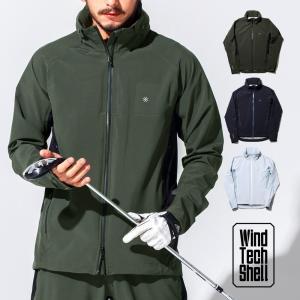 ゴルフウェア メンズ ジャケット / ストレッチ 2パネル ジャケット / ゴルフ ウェア メンズ 春 秋 冬 おしゃれ 長袖 S/M/L/XL レインウェア ウィンドブレーカー|4ss