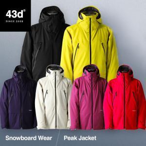 【予約】スノーボードウェア 43DEGREES スキーウェア ジャケット単品 メンズ 2020-2021 PEAK JACKET スノボウェア スノーボードウェア スノボ|4ss