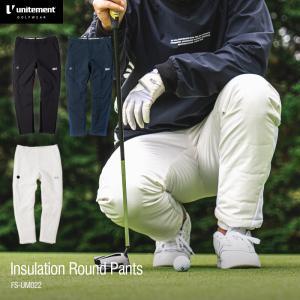 ゴルフ メンズ unitement Reversible Warm Pants 防風 撥水 パンツ ウインドブレーカー ウィンドブレーカー GOLF ゴルフウェア 秋 冬 ダウンパンツ|4ss