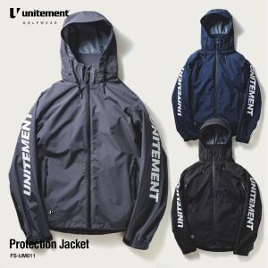 ゴルフ メンズ unitement Protection Jacket ジャケット単品 レインウェア ジャケット 防風 撥水 上着 ウインドブレーカー ウィンドブレーカー ゴルフウェア|4ss