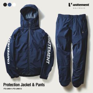 ゴルフ メンズ unitement Protection Jacket&Pants 上下セット レインウェア 上下 防風 ウインドブレーカー ウィンドブレーカー ゴルフウェア|4ss