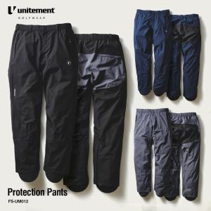 ゴルフ メンズ unitement Protection Pants パンツ単品 レインウェア パンツ 防風 ズボン ウインドブレーカー ウィンドブレーカー|4ss