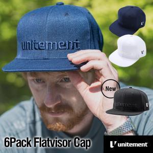 【レインカバー付】ゴルフ メンズ レディース キャップ unitement 6Pack Flatvisor Cap キャップ 帽子 GOLF ゴルフウェア ゴルフ|4ss