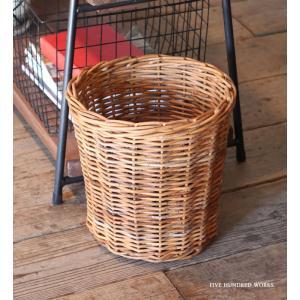 エントリーP10倍 アラログ鉢カバーL(天然素材) 500WORKS. バスケット かご 収納ゴミ箱 ダストボックス AROROGSTORAGE Creer/クレエ|500works
