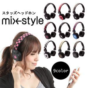 Studs Headphones   headphone   mix-style ミックススタイル   ヘッドホン   ヘッドフォン   スタッズ   Rock& Punk   パンク・ロック