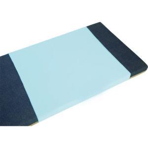 ブルー防水シーツ スムースニット レギュラーサイズ100-01 ブルー(サックス)|5107store