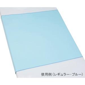 ブルー防水シーツ スムースニット Lサイズ100-04 ブルー|5107store