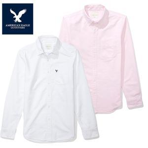 USブランド アメリカンイーグル メンズ 長袖シャツ 白シャツ オックスフォード American Eagle AE  SHIRT ae1700 5445
