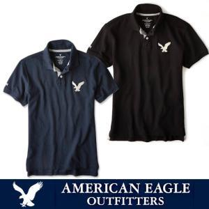 アメリカンイーグル ポロシャツ 半袖 メンズ AE American Eagle ae1705 Navy Black 5445