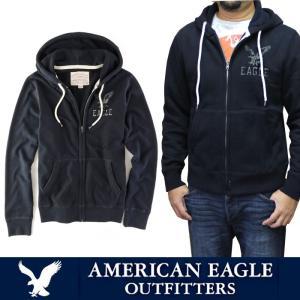 アメリカンイーグル メンズ フルジップパーカー American Eagle AE ae1766 ダークネイビー|5445