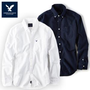 アメリカンイーグル メンズ 長袖シャツ American Eagle AE  SHIRT ae1900 ホワイト グレー ブラック|5445