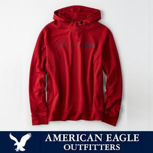 アメリカンイーグル メンズ アクティブワッフルフーディー パーカー American Eagle AE ae1917 レッド|5445