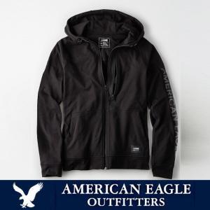 アメリカンイーグル メンズ アクティブ フルジップ パーカー American Eagle AE ae1918 ブラック|5445