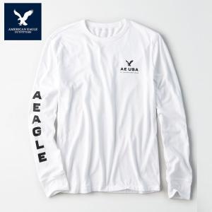 アメリカンイーグル 長袖  Tシャツ メンズ AE American Eagle 正規品 ae1979 白 ホワイト  大きいサイズ 5445