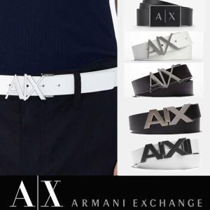 A/X アルマーニ エクスチェンジ 革 ベルト ARMANI EXCHANGE レザーベルト 正規 ax415 ホワイト ブラック|5445
