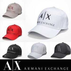 アルマーニエクスチェンジ キャップ 帽子 ARMANI EXCHANGE A/X 正規 ax472 ホワイト ブラック レッド|5445