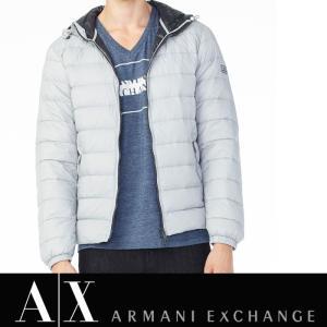 アルマーニ エクスチェンジ A/X ARMANI EXCHANGE メンズ ダウンジャケット ax533 ライトグレー 5445