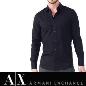 アルマーニ エクスチェンジ A/X ARMANI EXCHANGE メンズ チェック 長袖シャツ 正規 ax540 ブラック|5445
