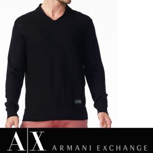 アルマーニ エクスチェンジ A/X ニット Vネック ARMANI EXCHANGE メンズ ax546 ブラック|5445