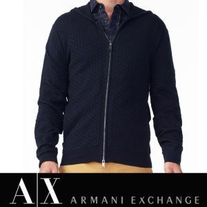 アルマーニ エクスチェンジ A/X ニット フルジップパーカー ARMANI EXCHANGE メンズ ax547 ネイビー|5445