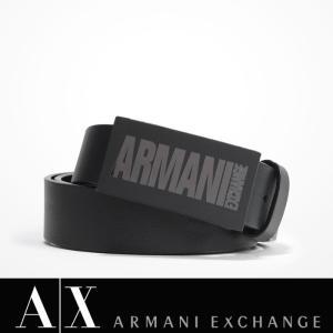A/X アルマーニ エクスチェンジ 革 ベルト ARMANI EXCHANGE レザーベルト 正規 ax612 ブラック|5445