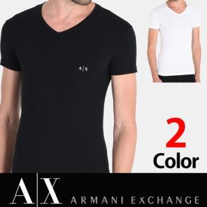 アルマーニエクスチェンジ メンズ  半袖 Tシャツ Vネック A/X  ARMANI EXCHANGE ブラック ホワイト XL有り 正規輸入品 ax629 5445