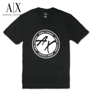 アルマーニエクスチェンジ メンズ  半袖 Tシャツ  A/X  ARMANI EXCHANGE USA正規品 ax679 ブラック|5445