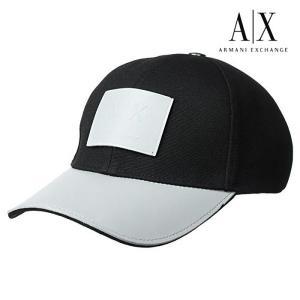 A/X アルマーニ・エクスチェンジ・ユニセックス ARMANI EXCHANGE 正規 キャップ ハット 帽子 ax694 ブラック 5445