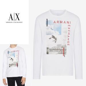 アルマーニエクスチェンジ メンズ  長袖 Tシャツ ロンT A/X  ARMANI EXCHANGE USA正規品 ax707 ホワイト 5445