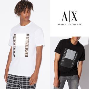 アルマーニエクスチェンジ メンズ  半袖 Tシャツ  A/X  ARMANI EXCHANGE USA正規品 ax712 ブラック ホワイト 5445