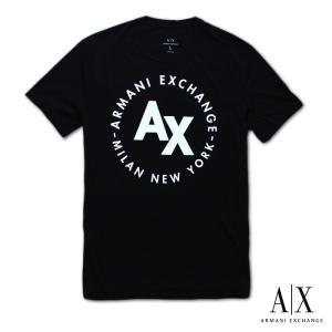 アルマーニエクスチェンジ メンズ  半袖 Tシャツ  A/X  ARMANI EXCHANGE USA正規品 ax718 ブラック 5445