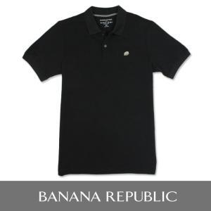 BANANA REPUBLIC バナナリパブリック メンズ ポロシャツ 半袖  USA直輸入 ブランド ba320 ブラック|5445