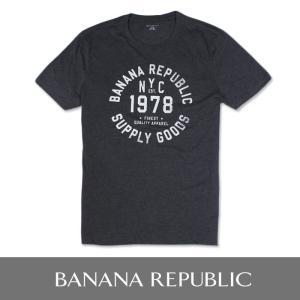 BANANA REPUBLIC バナナリパブリック メンズ Tシャツ 半袖 プリント USA直輸入 ブランド ba326 ダークグレー|5445