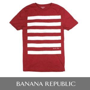 BANANA REPUBLIC バナナリパブリック メンズ Tシャツ 半袖 プリント USA直輸入 ブランド ba328 レッド|5445