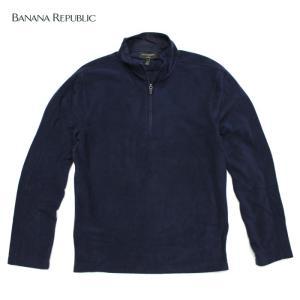 BANANA REPUBLIC バナナリパブリックメンズ フリース素材 ハイネック タートルネック 長袖 ba342 ネイビー|5445