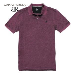 BANANA REPUBLIC バナナリパブリック メンズ ポロシャツ 半袖  USA直輸入 ブランド ba355 バーガンディ|5445